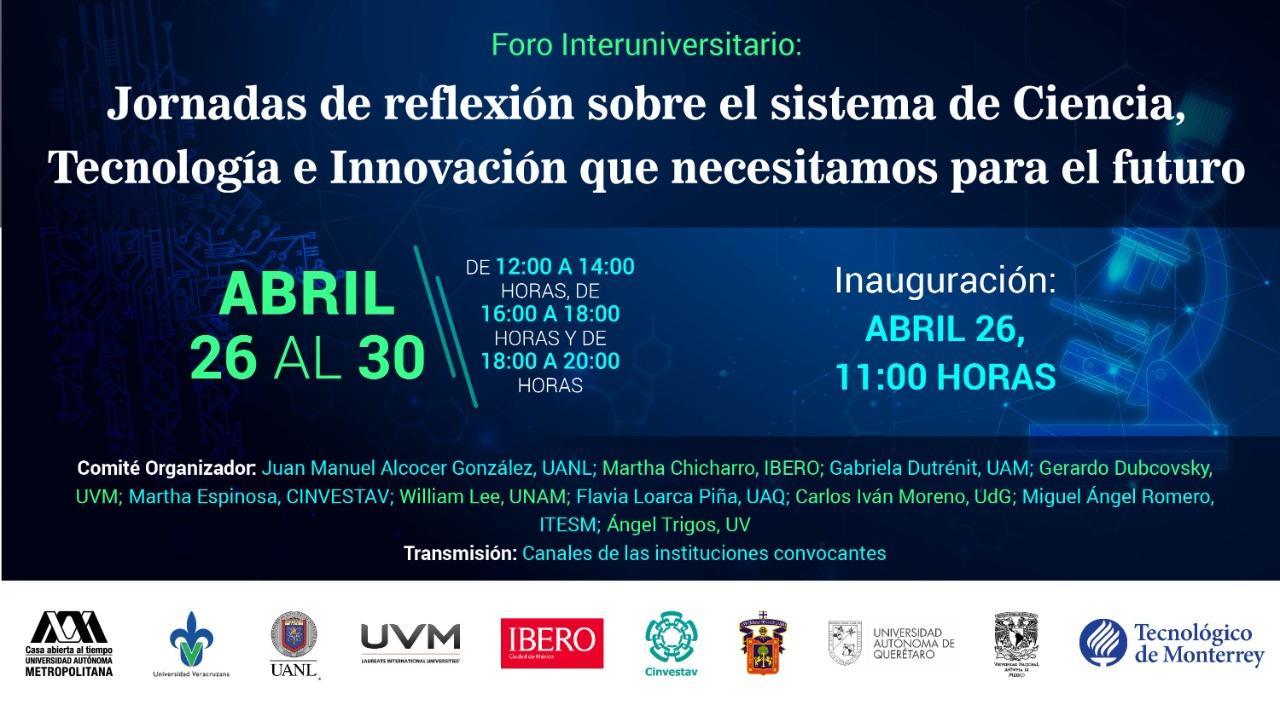 Jornadas de reflexión sobre el sistema de Ciencia, Tecnología e Innovación que demanda el futuro